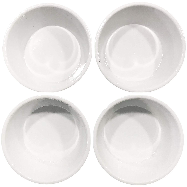 Orange; 8 Pack Dowin 4-Piece Plastic Multi-Color Ramekin Baking /& Dipping Sauce Cups