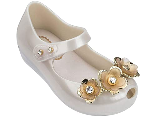 51efa8c6cd6cb Melissa Mini Infant's Ultragirl Crystal Flower Plastic Flat Pearl ...