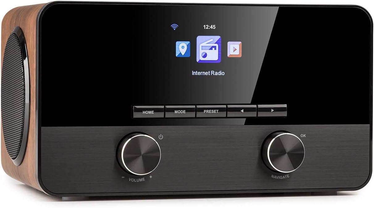 auna Connect 100 SE - Radio con Internet, Teproductor Multimedia, Bluetooth, WiFi para conectar en Red, Control por App, Pantalla TFT en Color de 2,4