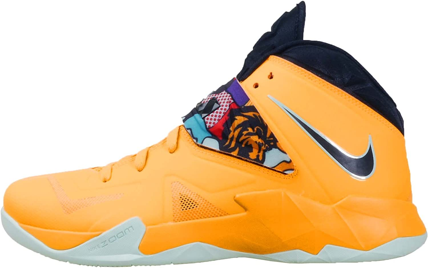 Nike Lebron James Zoom Soldier Vii 7 Mens Basketball Hi Top Trainers 599264 800 Sneakers Shoes Tour Yellow Pop Art Uk 12 Us 13 Eu 47 5 Amazon Co Uk Shoes Bags