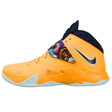cheaper 5c8ca e978b Nike lebron james zoom soldier VII 7 mens basketball hi top trainers 599264  800 sneakers shoes tour yellow pop art (uk 12 us 13 eu 47.5)  Amazon.co.uk   ...