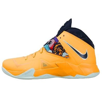 cheaper 48343 b28e7 Nike lebron james zoom soldier VII 7 mens basketball hi top trainers 599264  800 sneakers shoes tour yellow pop art (uk 12 us 13 eu 47.5)  Amazon.co.uk   ...