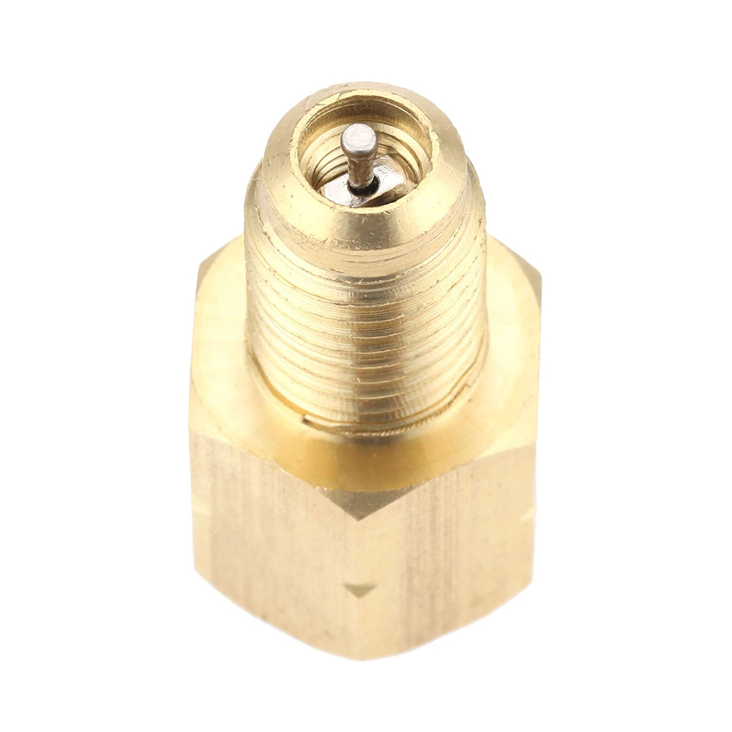 Vacuum Pump Adapter 1//2 Acme-LH x 1//4SAE Male Brass Hose Fit for R1234YF System