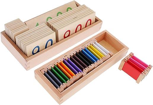 MagiDeal Set de Caja de Color de Material Montessori 1 Set Montessori Tarjetas de Número Cartas 1-3000: Amazon.es: Juguetes y juegos