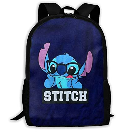 0b789db25821 Amazon.com: MPJTJGWZ Casual Backpack Stitch with Glasses Print ...