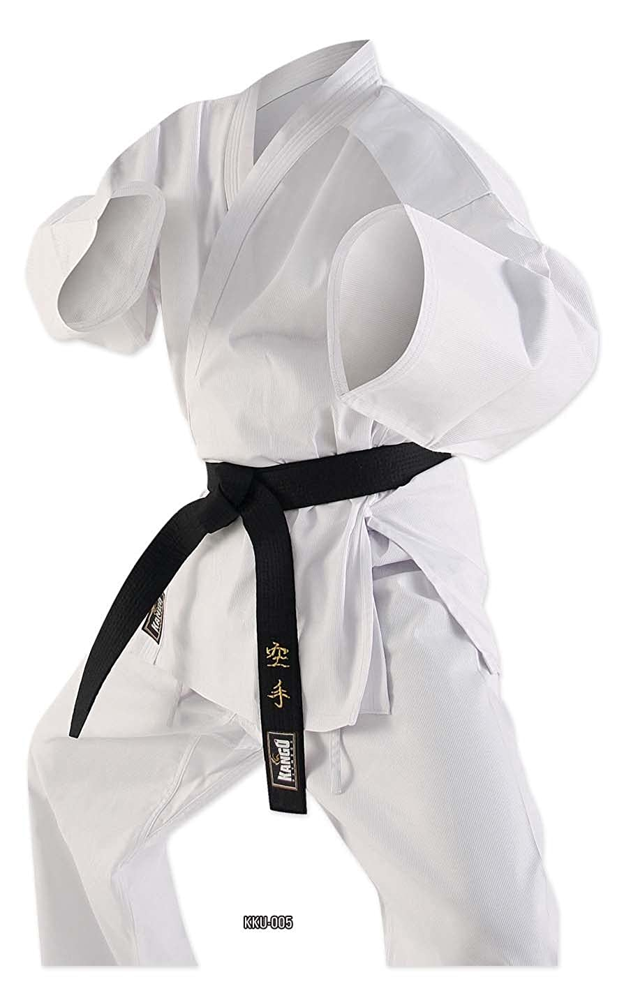 Polyester Cotton Student 7oz Karate Suit White Gi with Free White Belt 000-7 Sizes Kango fitness