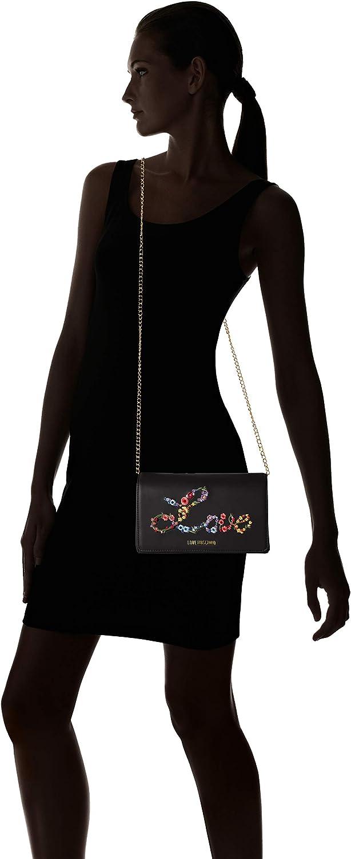 Love Moschino Nappa Pu, Borsa a Tracolla Donna, 6x12x22 cm (W x H x L) Nero (Nero)