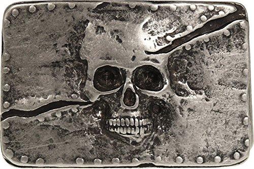Buckle mit Totenkopfmotiv