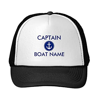 858fcad6b88af Image Unavailable. Image not available for. Color  Funny Nautical Blue  Anchor Personalized Boat Captain Hat