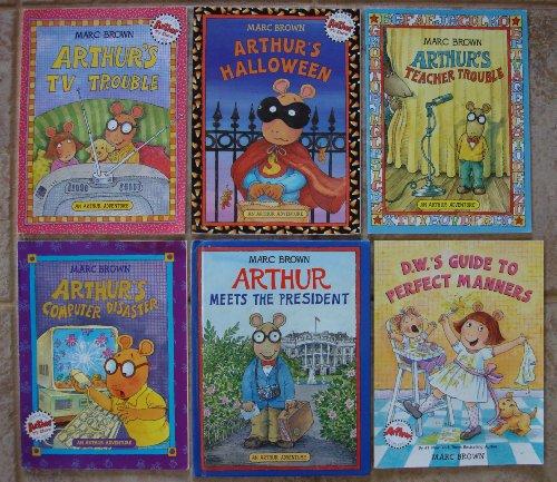 Arthur Adventure Set of 6 Books (Arthur's Teacher Trouble ~ Arthur's Halloween ~ Arthur's Computer Disaster ~ Arthur's TV Trouble ~ Arthur Meets the President ~ D.W.'s Guide to Perfect Manners)]()