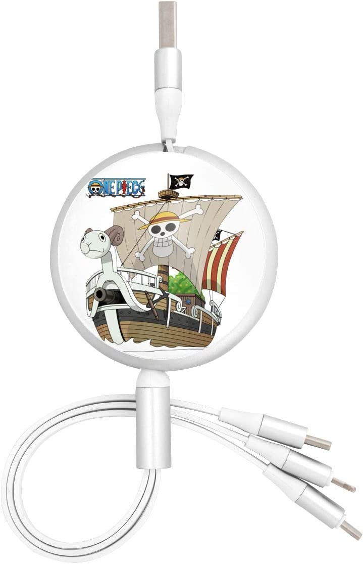 N//C One Piece-Going Merry Anime Round Three-in-One Charging Cable TPE Cable Aluminum Alloy Shell Pc Surface