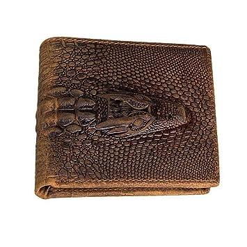 De Porte Grain Yamyannie Crocodile Portefeuille Monnaie En Homme Vintage Pour À Femme Cuir Court rdeCBxWo