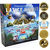 Latice Hawaii Strategy Board Game - The Ultimate Multi-Award-Winning Smart New Kickstarter Game for Adults and Kids. Intelligent Fun for Friends and The Whole Family.