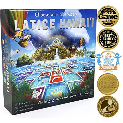 Latice Hawaii Strategy Board Game - The Ultimate Multi-Award-Winning Smart New Kickstarter Game for Adults and Kids. Intelligent Fun for Friends and The Whole Family. (Best Adult Board Games 2019)