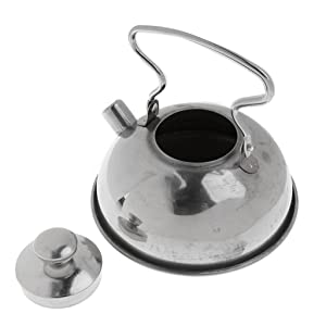 Baoblaze Kids Pretend Play Kitchen Cooking Toys, Stainless Steel Cookware - Coffee and Tea Kettle
