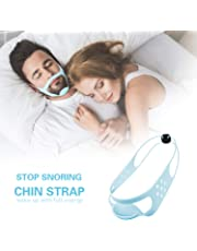Anti Snoring Chin Strap - Adjustable Stop Snoring Solution Anti Snoring Devices Sleep Aids for Men and Women Snore Stopper Chin Strap for Snoring Sleeping Mouth Breathers Works on Mouth Breathers Throat Drop Solution Spray Mouth Guard Mouthpiece
