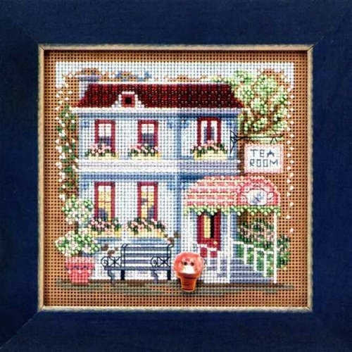 Tea Room - Beaded Cross Stitch Kit MH143102 - Buttons & Beads 2013 Spring by Mill Hill Wichelt