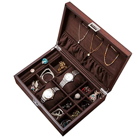 Organizador de cajas de joyas con 2 cajas de relojes ...