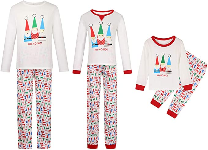 Landove Pijama Familiar de Navidad Invierno Conjunto 2 Piezas DC