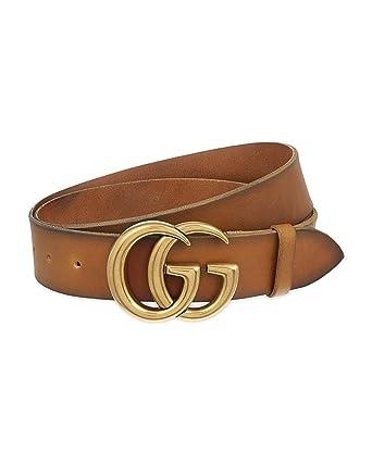 6ab3f0d9725c Gucci - Ceinture en cuir pour homme DOUBLE G (406831CVE0T2535) - marron, 100