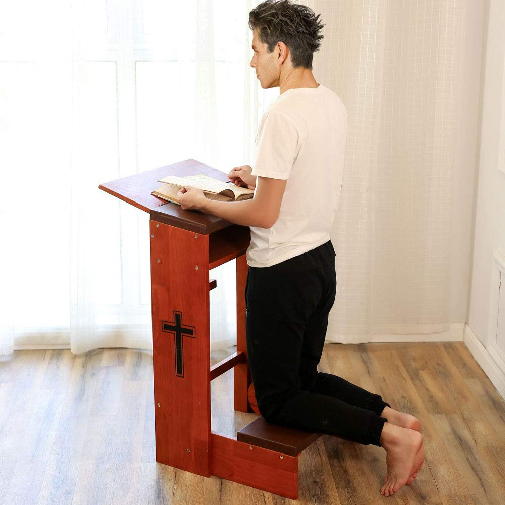 Awe Inspiring Dapu Prayers Kneeler With Folding Tabletop And Bench For Home Wooden Kneeling Padded Chair Stool Table With Shelf Cross Kneeling Cushions Dailytribune Chair Design For Home Dailytribuneorg