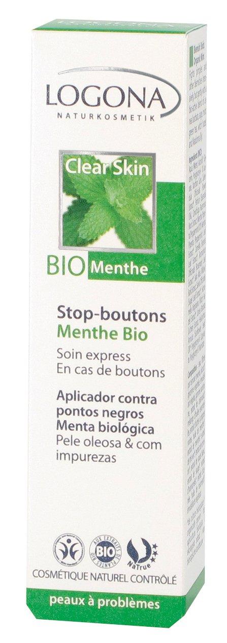 6f84aed142c9 Logona - 1001stobou - Soin du Visage - Stop-Boutons Menthe Bio - 6 ml   Amazon.fr  Beauté et Parfum