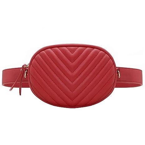 1e8699cb61 CRAZYCHIC - Borsa Ovale Marsupio Cintura Donna - Waist Pack Fanny Pack  Cellulare - Borsetta Ecopelle