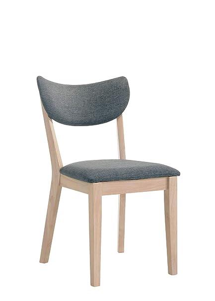 Amazon.com: Benzara BM183687 - Silla de madera con asiento ...