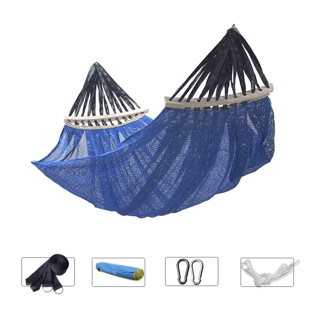 bleu grand engrener BAIJJ Anti-RenverseHommest hamac balançoire en Plein air, Camping en Salle, intérieur, équipeHommest de Voyage (Couleur  Bleu, Taille  Gros Maillage)