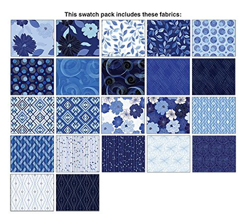 Blue Brilliance~ Charm Pack 42, 5'' Cotton Squares -by Benartex by Benartex
