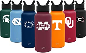 Simple Modern Officially Licensed University Tumblers, Water Bottles, Coffee Mugs, Gifts for Men Women Youth Graduation - State College Team Fan Merchandise - Stainless Steel Vacuum Insulated