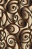 Chocolate 2X4 Carved Swirls Modern Geometric Mat Rug
