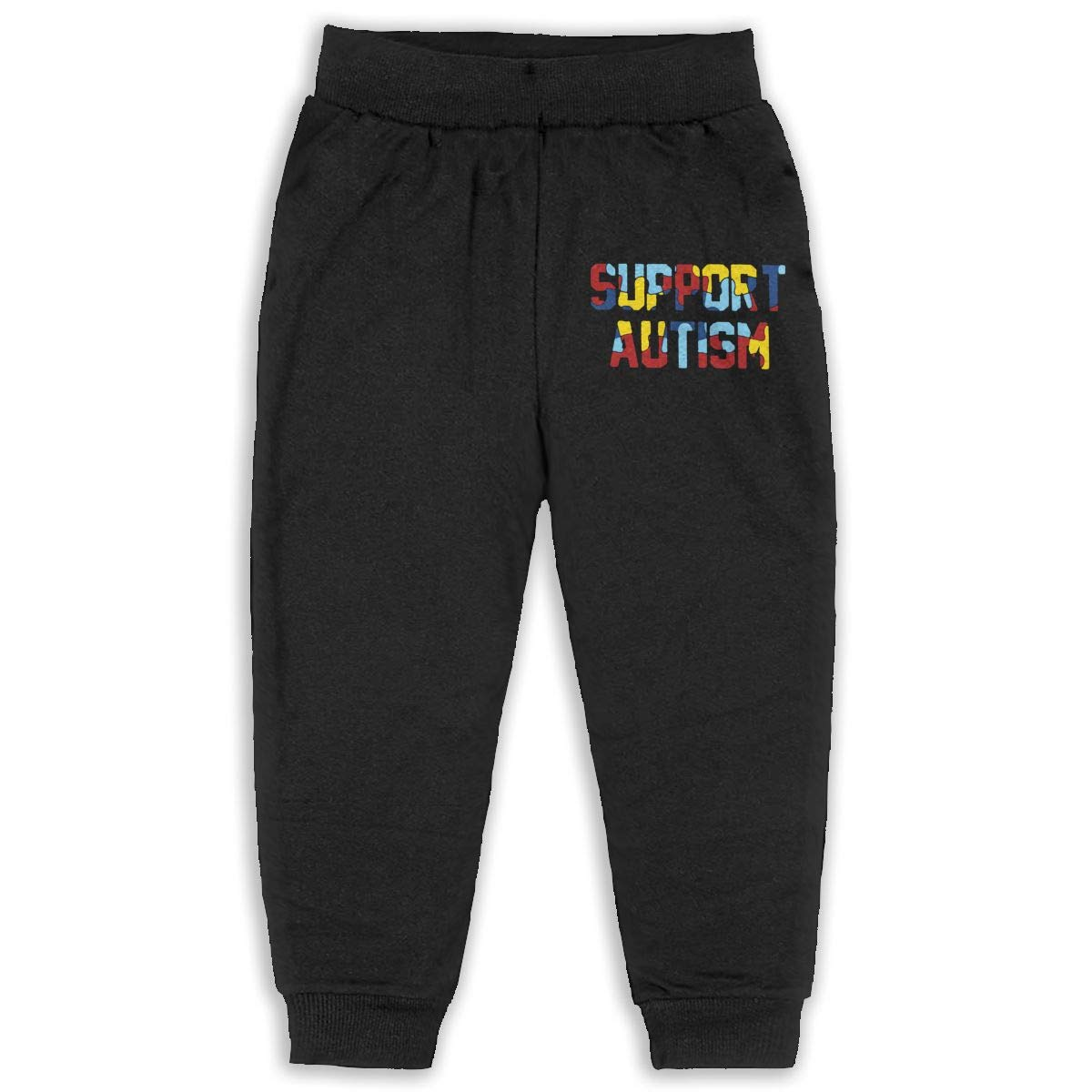Classic Baby Boy Elastic Trousers Support Autism Unisex Kid Toddler Sweatpants