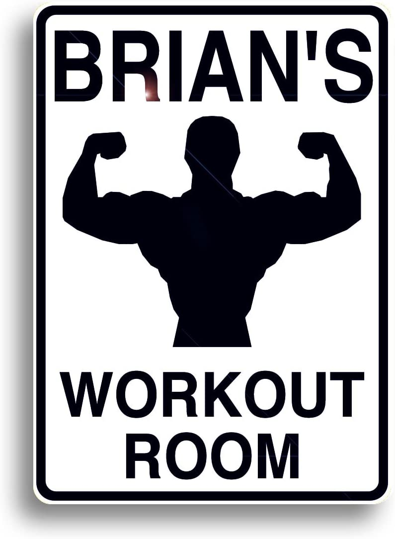 Workout Room Sign, Personalized for Your Home Gym, and Shipped Fast!