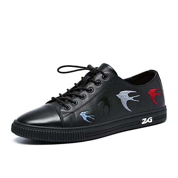 Shoes Mens Casual Leather Shoes Outdoor Exercise Sneakers Black Deck Shoes