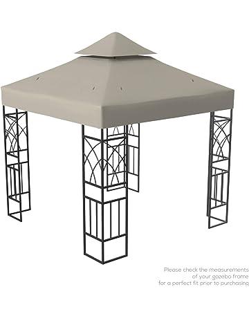 Kenley Techo de Reemplazo para Carpa Estructura Gazebo Pabellón de Jardín - 3x3m - Beige
