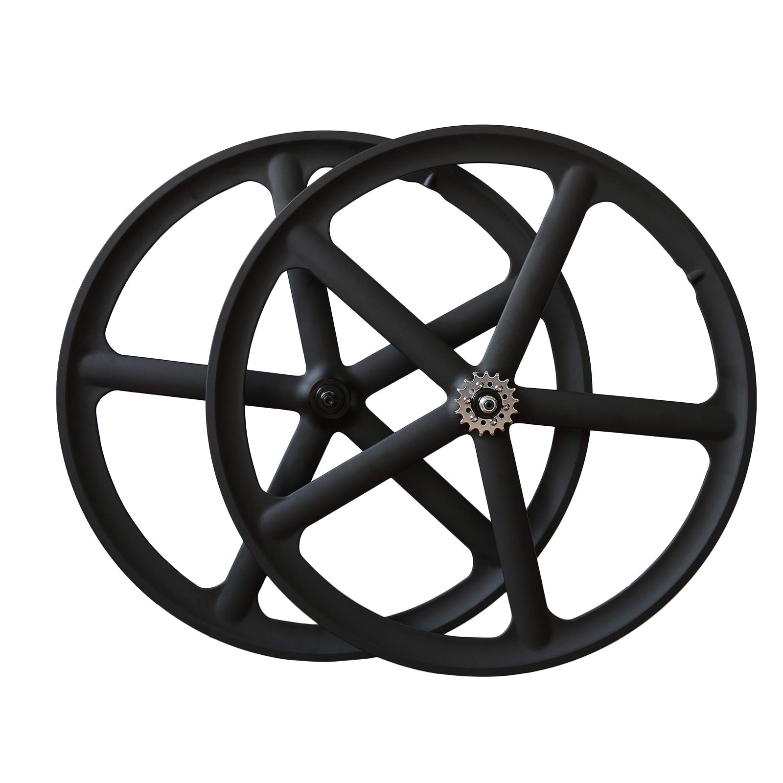 SOLOMONE CAVALLI 700c 5 Spoke All-in-one Bicycle Wheel Set Mag Wheelset for Fixie Fixed Gear Road Single Speed by SOLOMONE CAVALLI