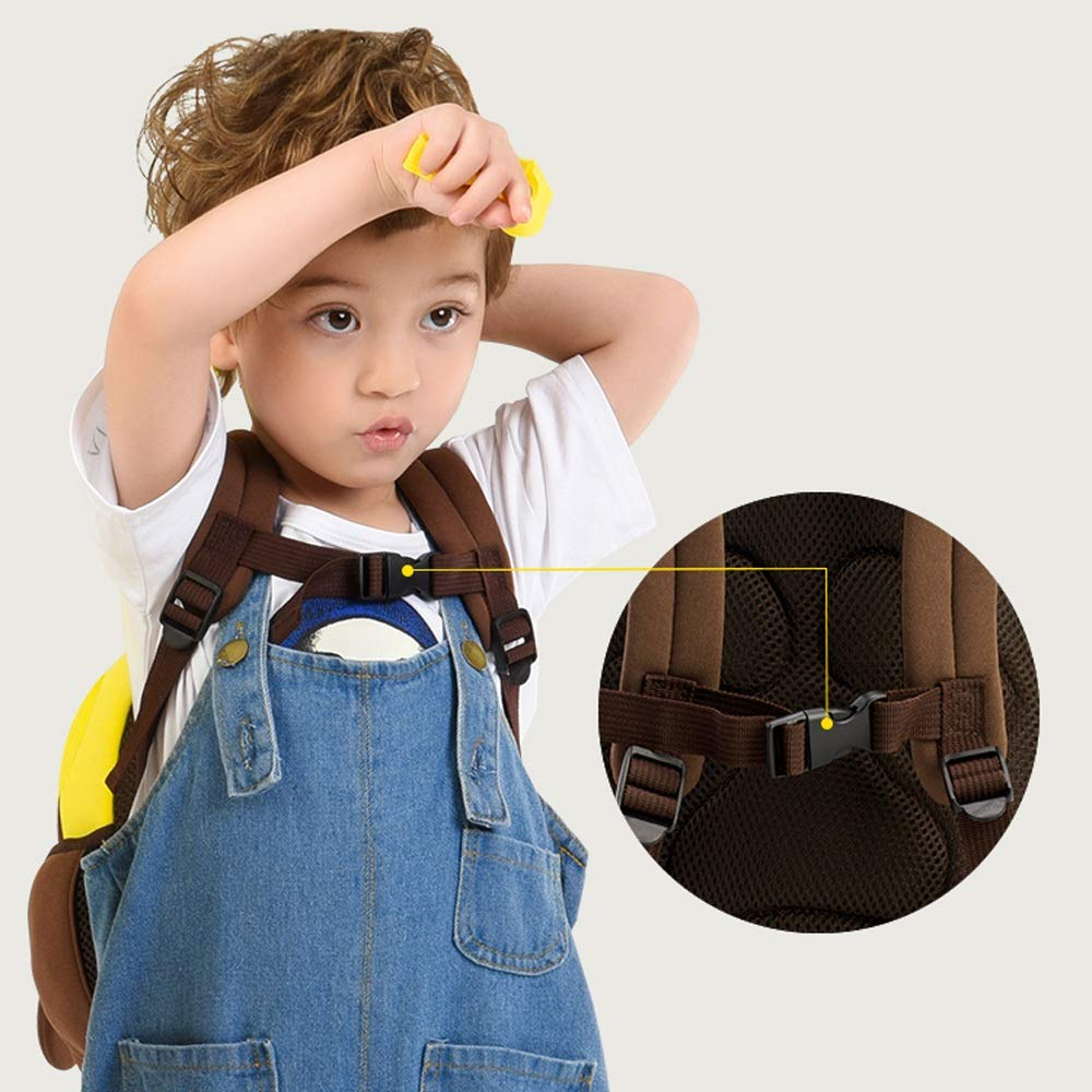 QWEER Anti-Lost Shoulder Bag Diving Material Anti-Lost Bag Kindergarten Boys and Girls 1-3-6 Years Old Cute Little School Bag Children Backpack Soft Breathable Large Capacity Design by QWEER (Image #2)