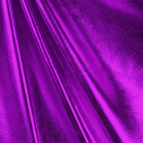 Purple Foil Metallic Spandex Fabric - By the Yard