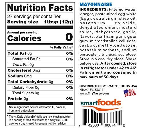 Mrs Taste, Zero Calories, Zero Sodium, Zero Sugar, High Fiber, Condiments and Sauces (Mayo)