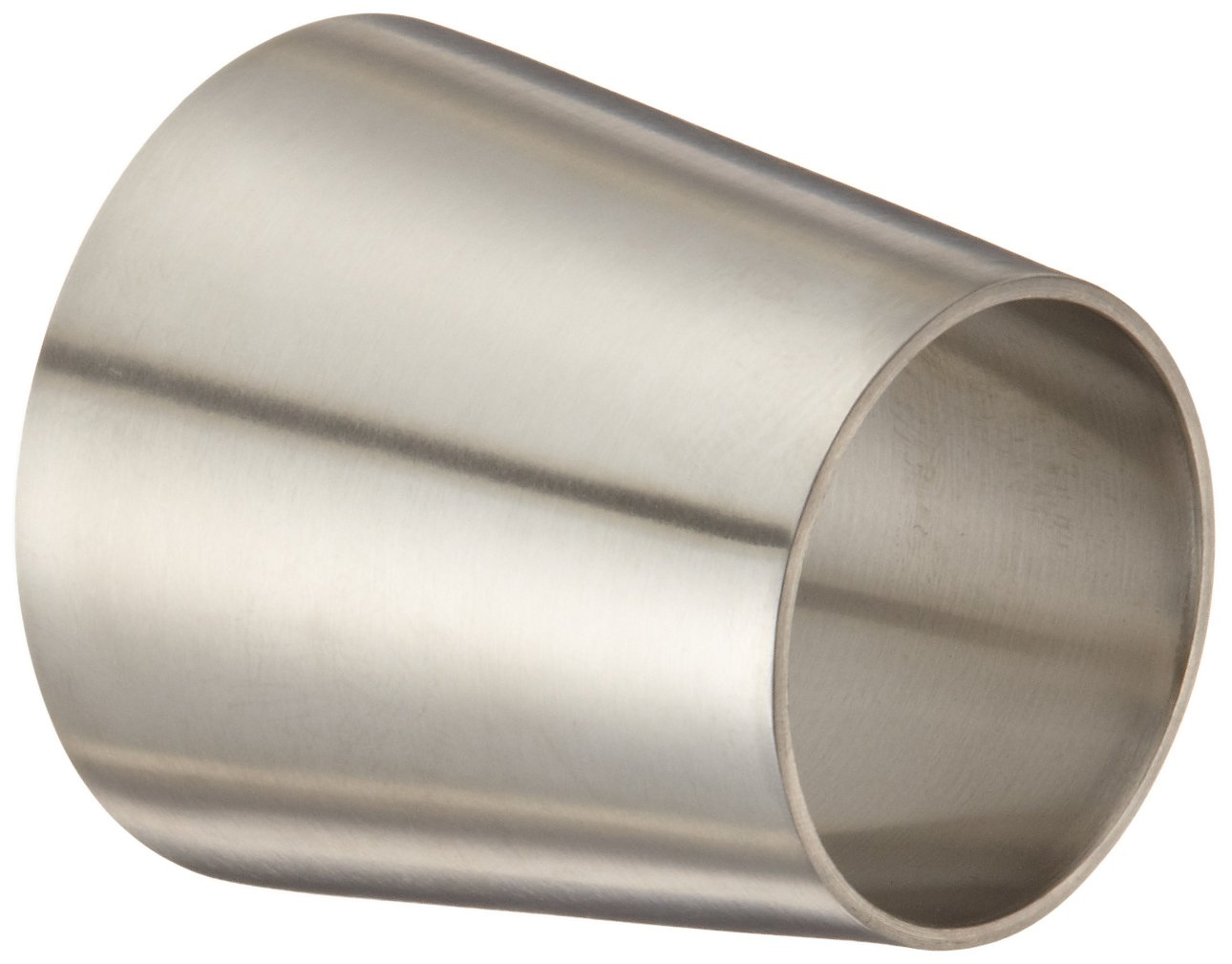 Dixon B31W-G200150P Stainless Steel 304 Polished Fitting, Weld Concentric Reducer, 2'' Tube OD x 1-1/2'' Tube OD