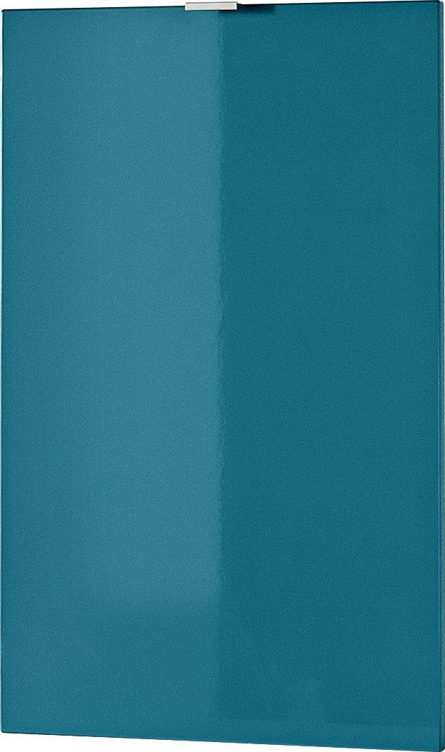 Germania 3457-193 Tür mit Einlegeboden für Kommode Sideboard Farbeado in Petrol Hochglanz, 48 x 76 x 2 cm (BxHxT)