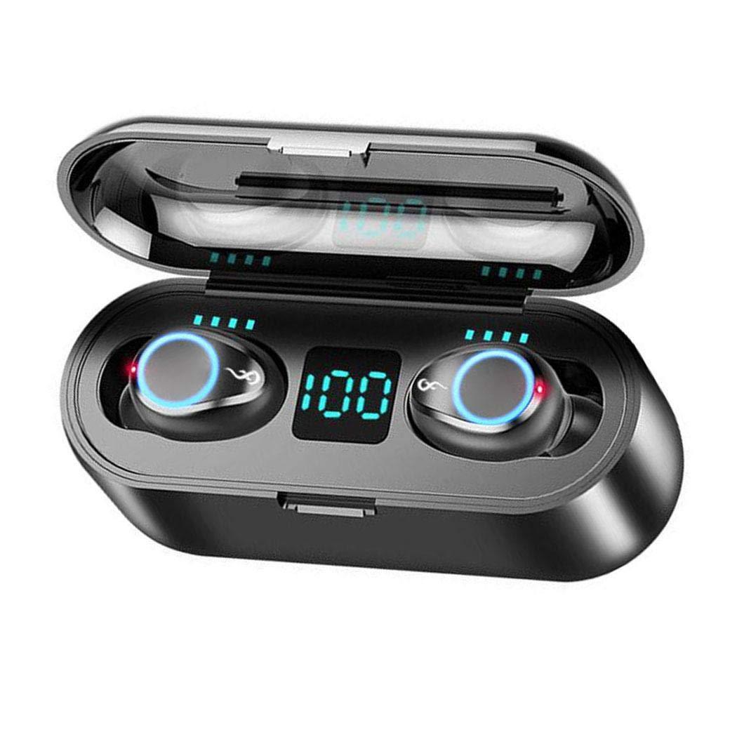 fnemo Mini Auricular inalámbrico Bluetooth HiFi Auriculares estéreo en la Oreja con Caja de Carga Auriculares