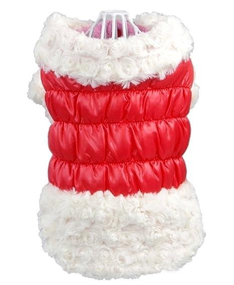 La vogue invierno Bichon Frise perritos Chihuahua Caniche Snowsuit ropa/ abrigo/capucha/Anorak