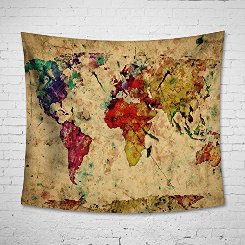 Uphome Colorful World Tapestry Hanging