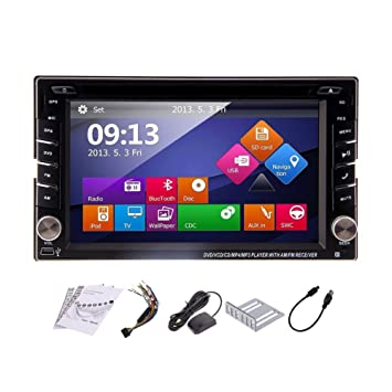 Windows 8 OS Car Radio with HD Digital Touch Screen 6 2 inch Double Din In  Dash GPS Navigation Car Stereo Car DVD Player Support Sat Nav USB SD