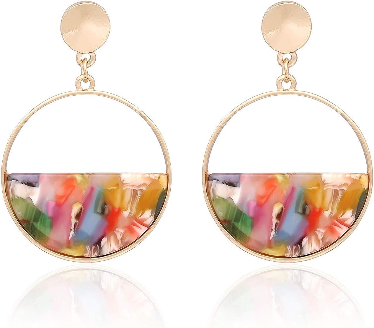 Acetate earrings tortoise shell earrings statement earrings gold earrings acrylic earrings dangle earrings for women birthday gifts