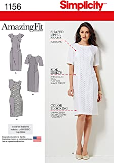 product image for Simplicity Pattern 1156 Women's' Amazing Fit Collection Dress with Variations Sizes: BB(20W-28W)