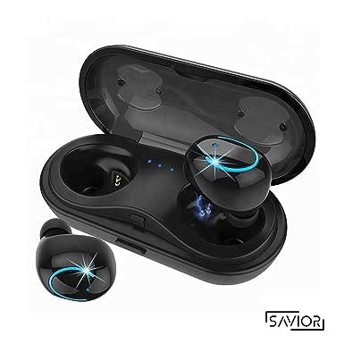 Auriculares Bluetooth, V4.2 Auriculares Inalámbricos Bluetooth, Estéreo Impactante, Con Micrófono y