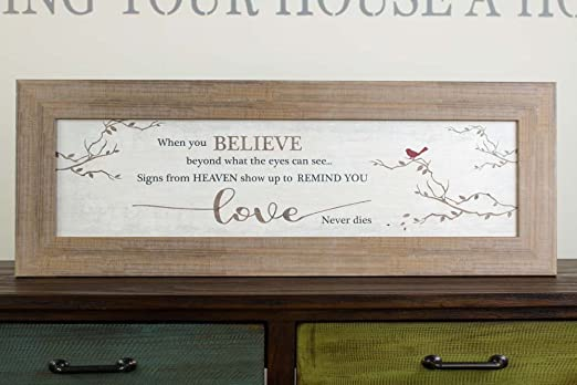 Christmas heaven angel quote keep lights box frame picture print glitter love